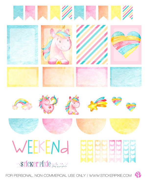 picture regarding Free Planner Sticker Printables referred to as Fresh Unicorn Planner Stickers furthermore a No cost Planner Sticker