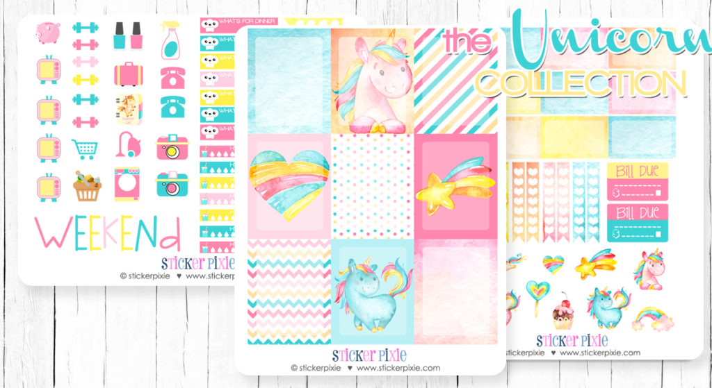 graphic relating to Free Planner Sticker Printables named Fresh new Unicorn Planner Stickers additionally a No cost Planner Sticker